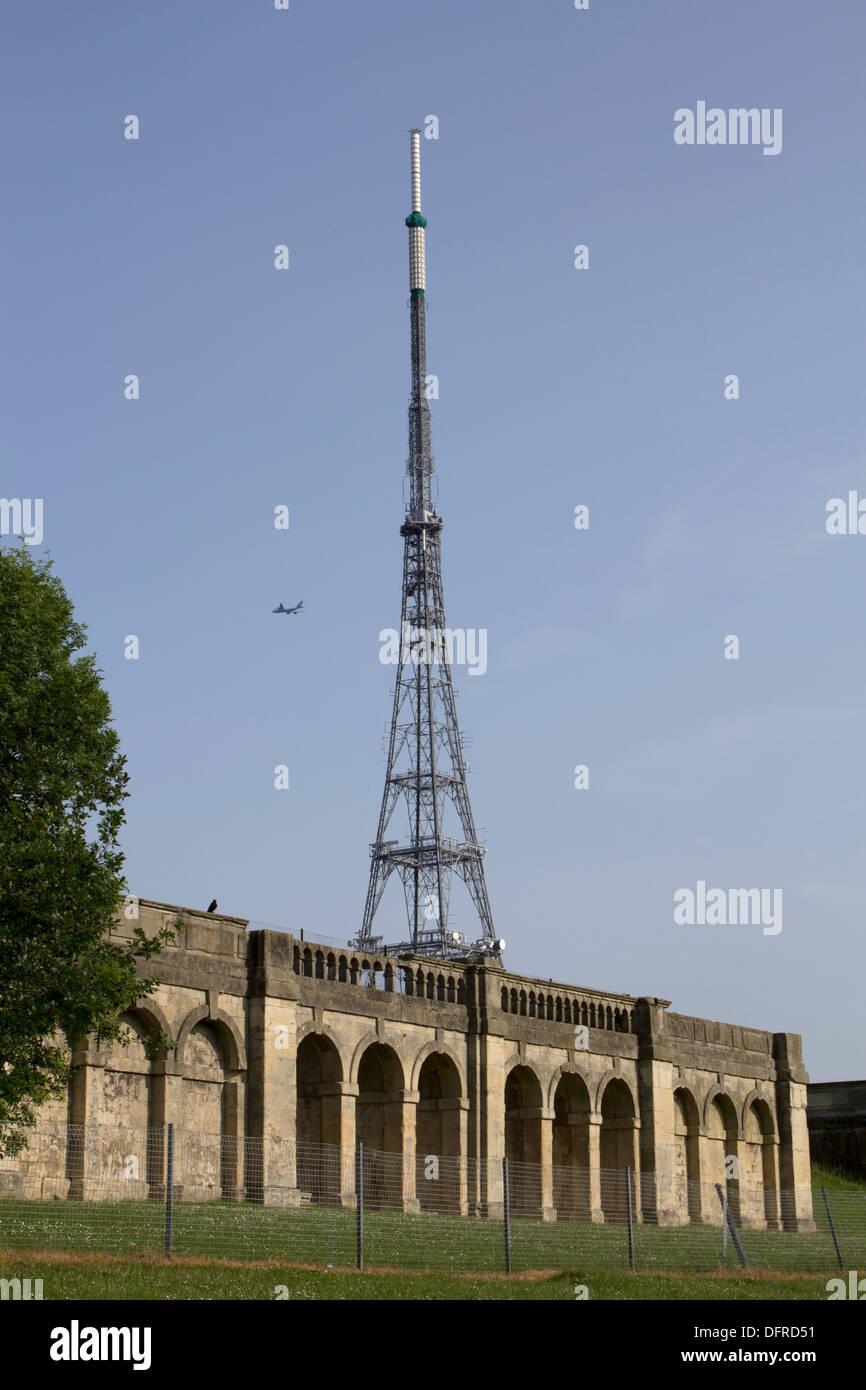 Crystal Palace Park and Antenna mast Stock Photo