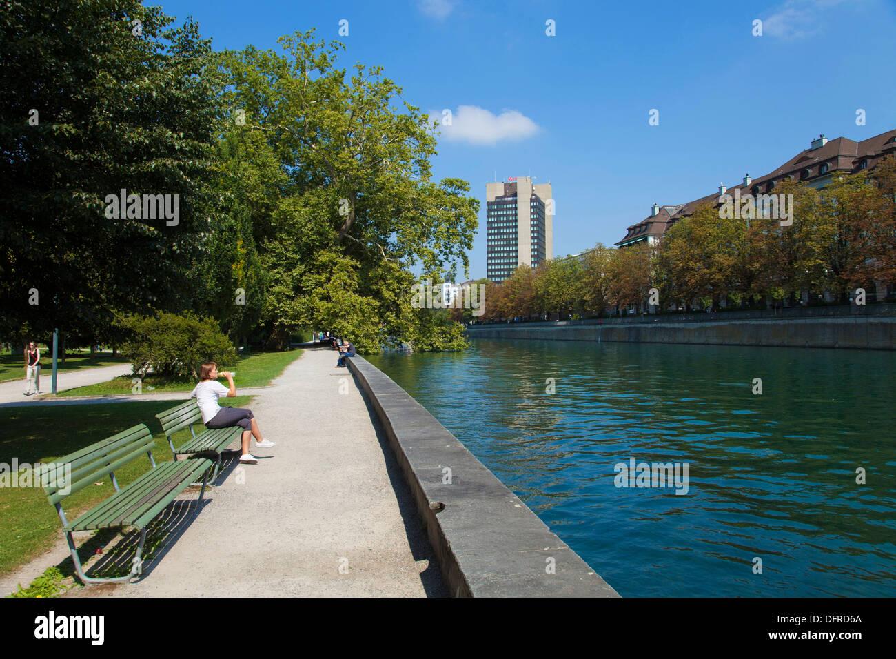 Switzerland, Zurich, Limmat river - Stock Image