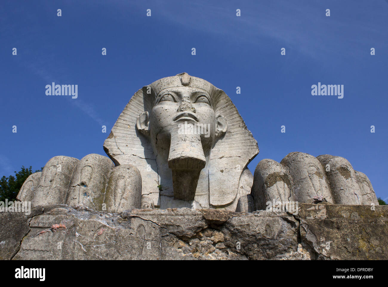 Sphinx in Crystal Palace Park Stock Photo