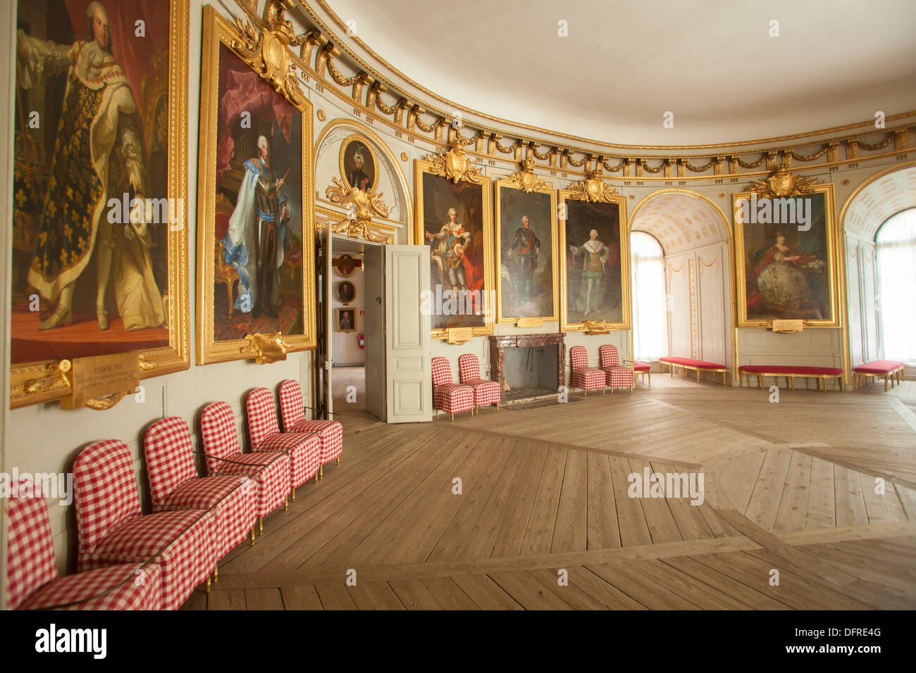 Sweden, Mariefred, Gripsholm Castle interiors - Stock Image