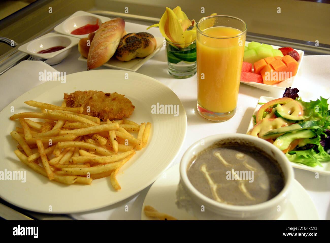 Room service; western set meal - Stock Image