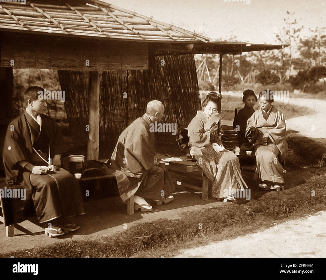 Japan - 'Mutual Seeing' early 1900s - Stock Image