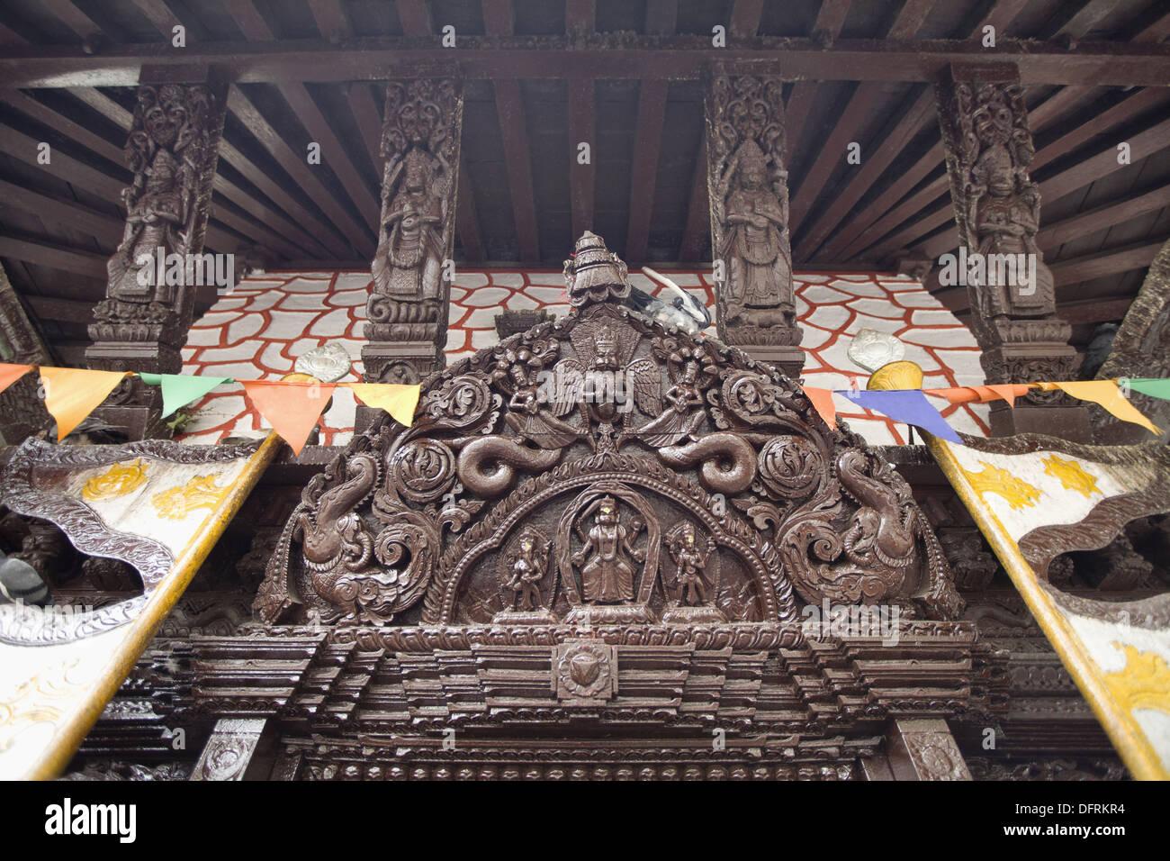 Barahi Island temple, Pokhara, Nepal. Stock Photo