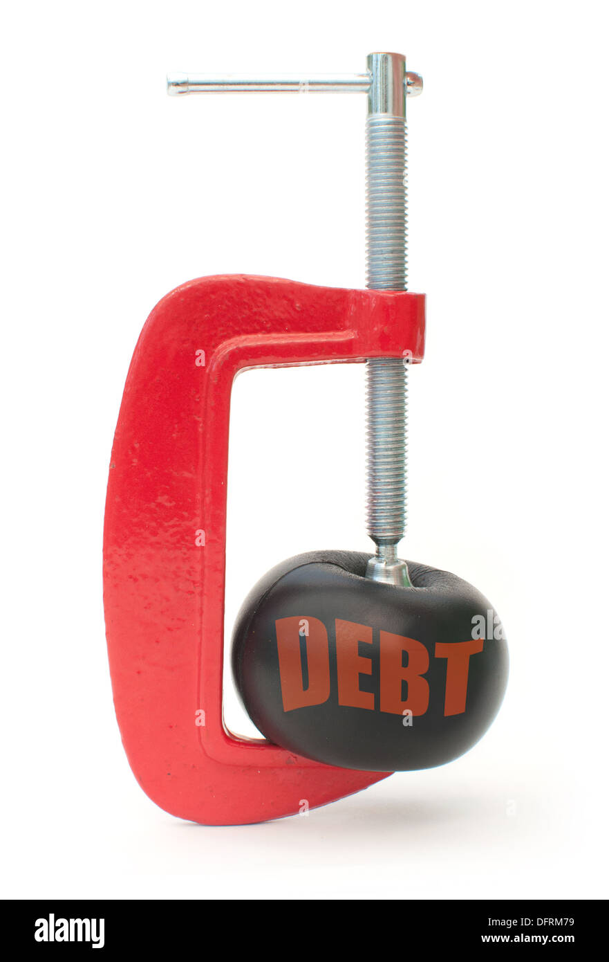 Debt reduction - Stock Image