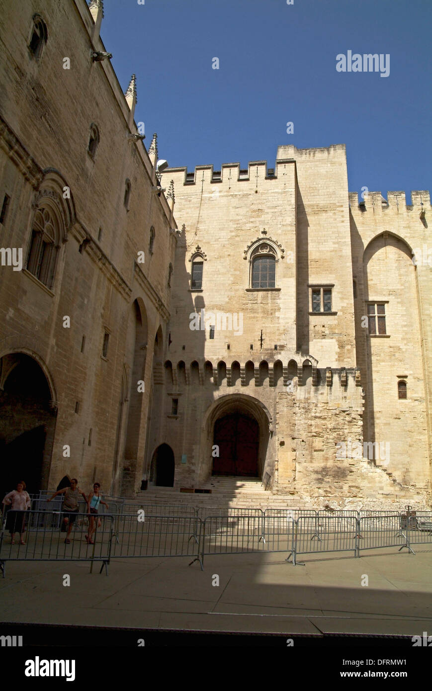 Popes' Palace Honours' Courtyard  Avignon  France - Stock Image