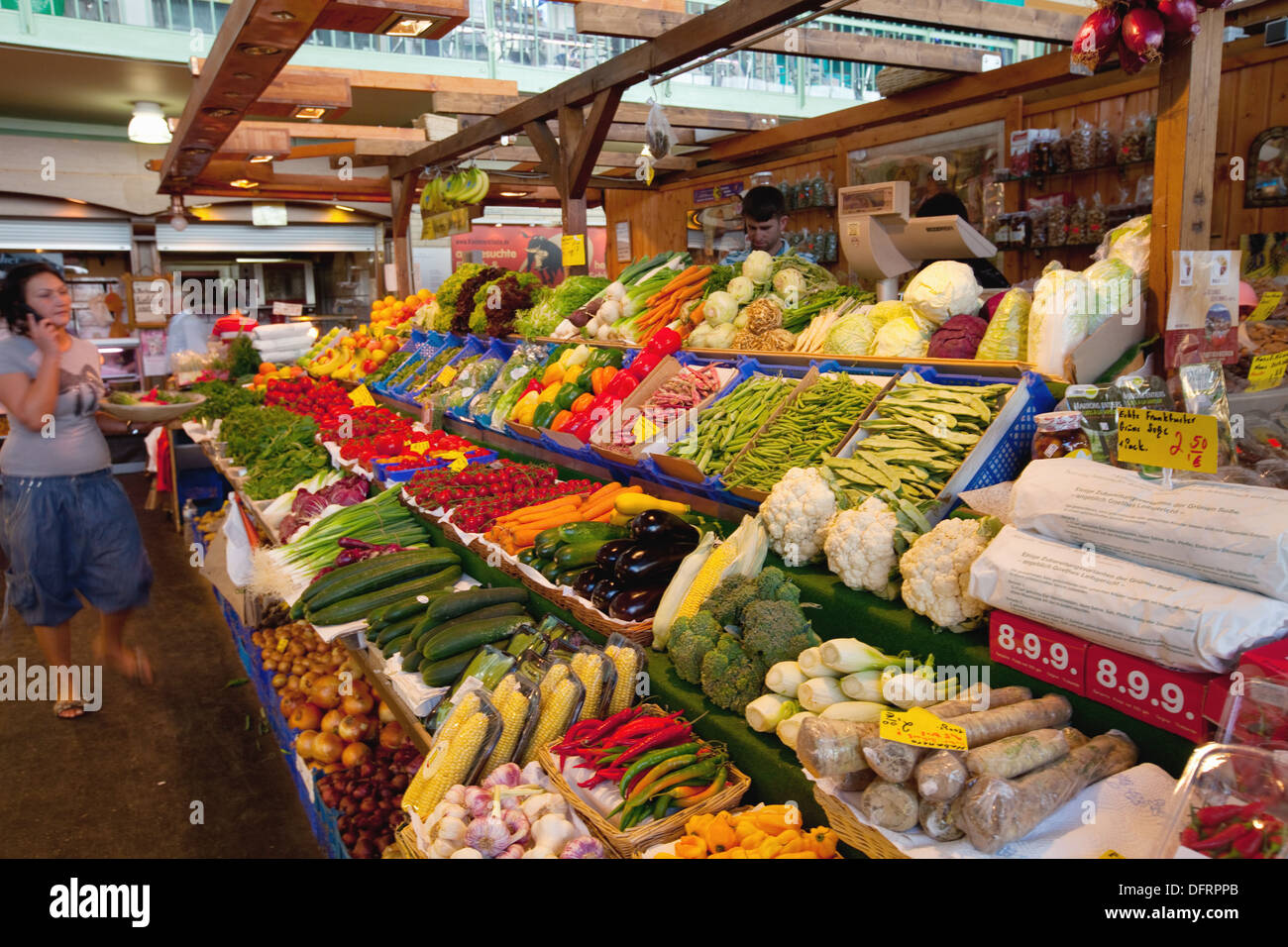fruit and vegetables stalls at the indoor market kleinmarkt halle stock photo 61373715 alamy. Black Bedroom Furniture Sets. Home Design Ideas