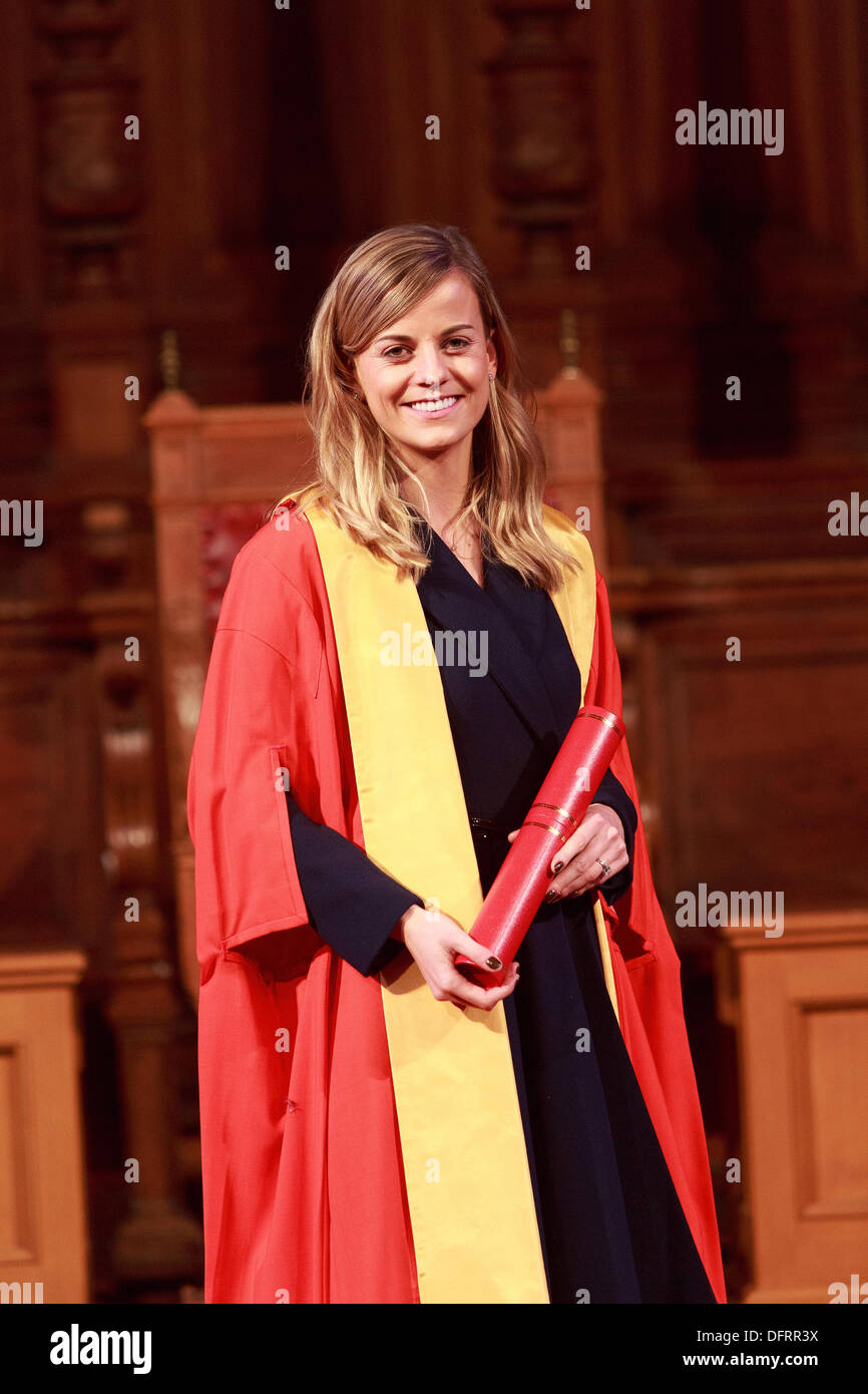 Famous Names from sport and cinema honoured by Edinburgh University. Formula 1 racing driver  awarded honorary degrees on 8th October 2013. Edinburgh. - Stock Image