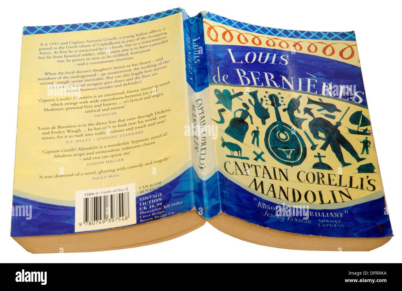 Captains Corelli's Mandolin by Louis de Bernieres - Stock Image