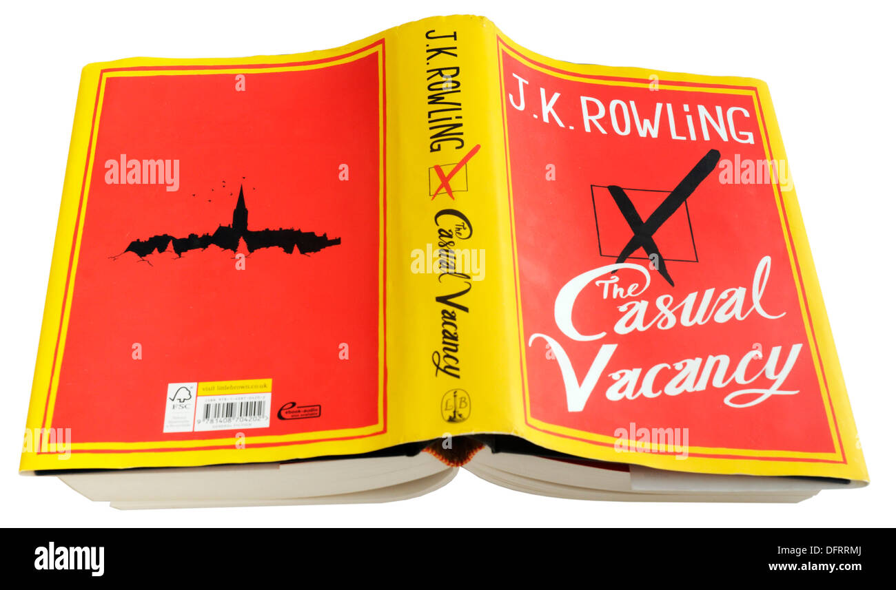 The Casual Vacancy by JK Rowling - Stock Image