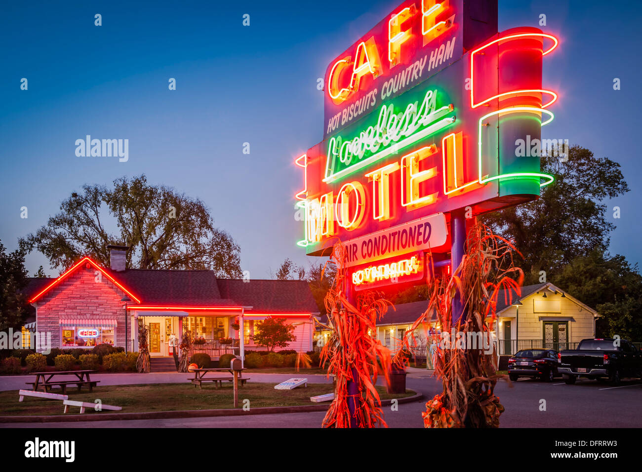 The famous Loveless Cafe and Motel near Nashville Tennessee, USA - Stock Image