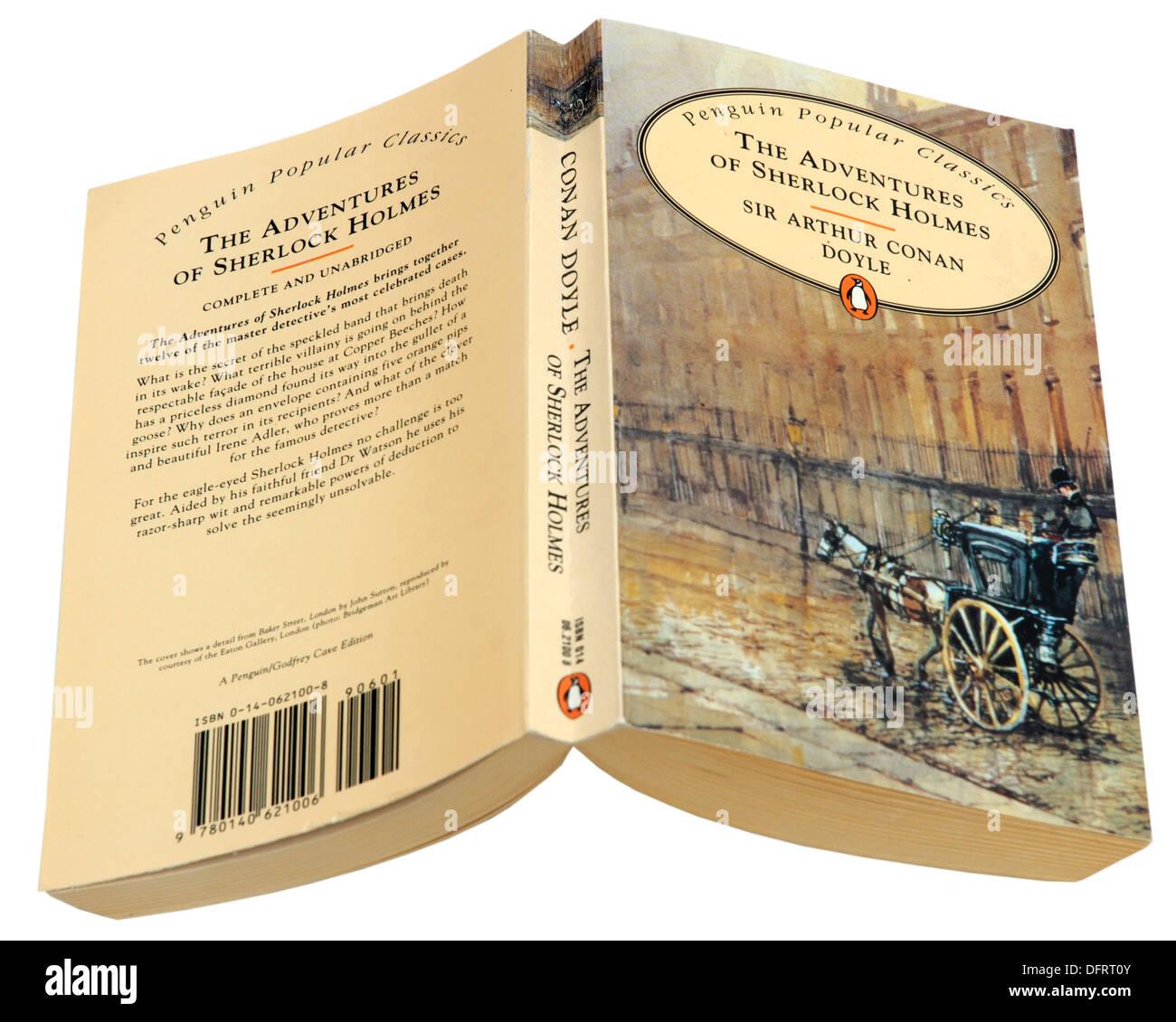 The Adventures of Sherlock Holmes by Sir Arthur Conan Doyle - Stock Image
