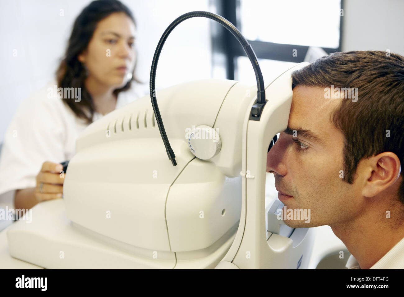 Ophthalmology. Hospital Universitario de Gran Canaria Doctor Negrin, Las Palmas de Gran Canaria. Canary Islands, Spain - Stock Image