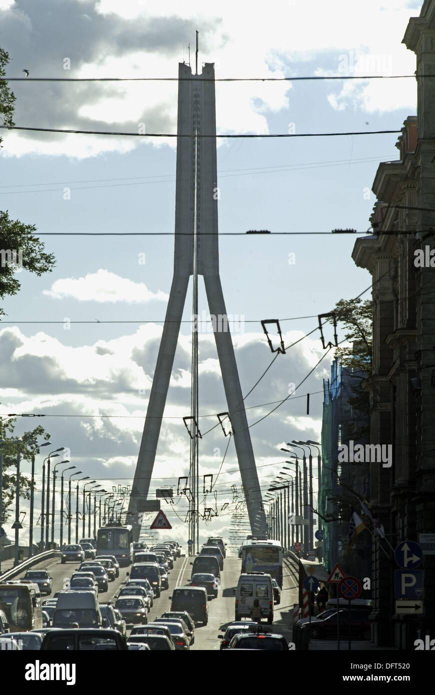 Vansu bridge. Riga. Letonia - Stock Image