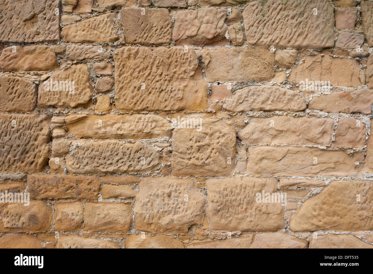 sandstone wall - Stock Image
