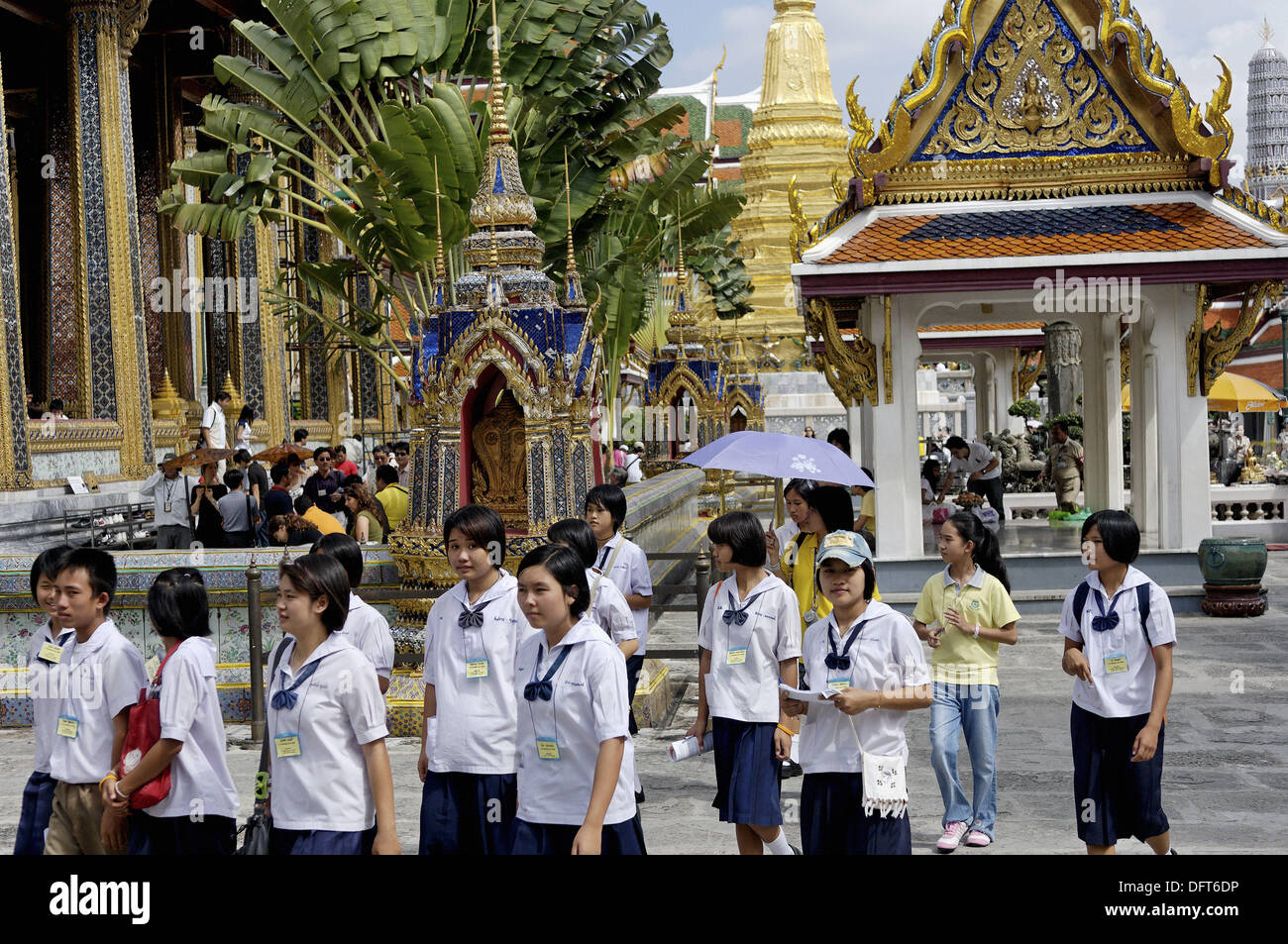The Grand Palace. For just about 150 years. Bangkok´s Grand Palace was not only the home of the king and his court, but also - Stock Image