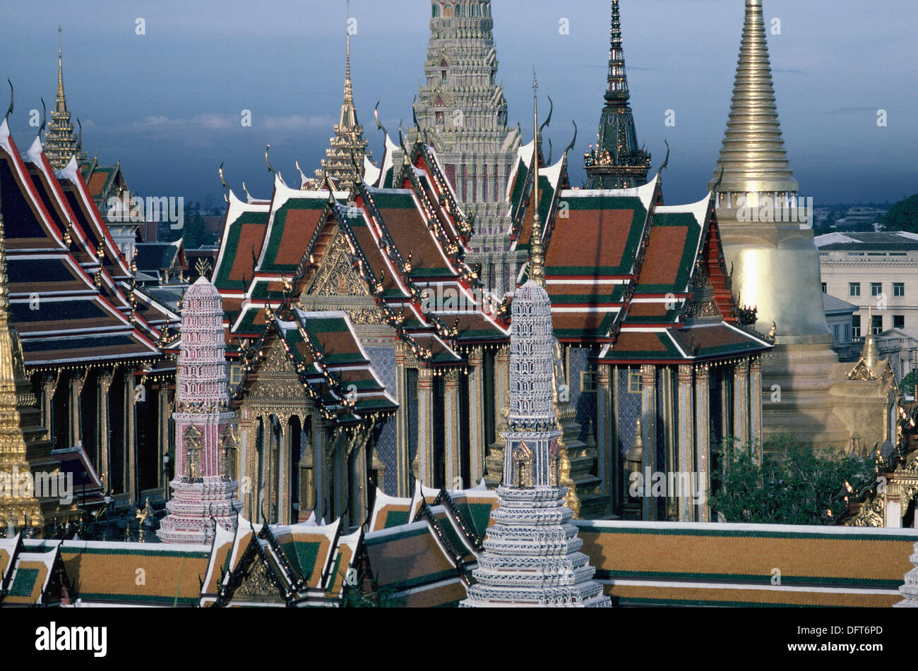 The Grand Palace. For just about 150 years, Bangkok´s Grand Palace was not only the home of the king and his court, but also - Stock Image
