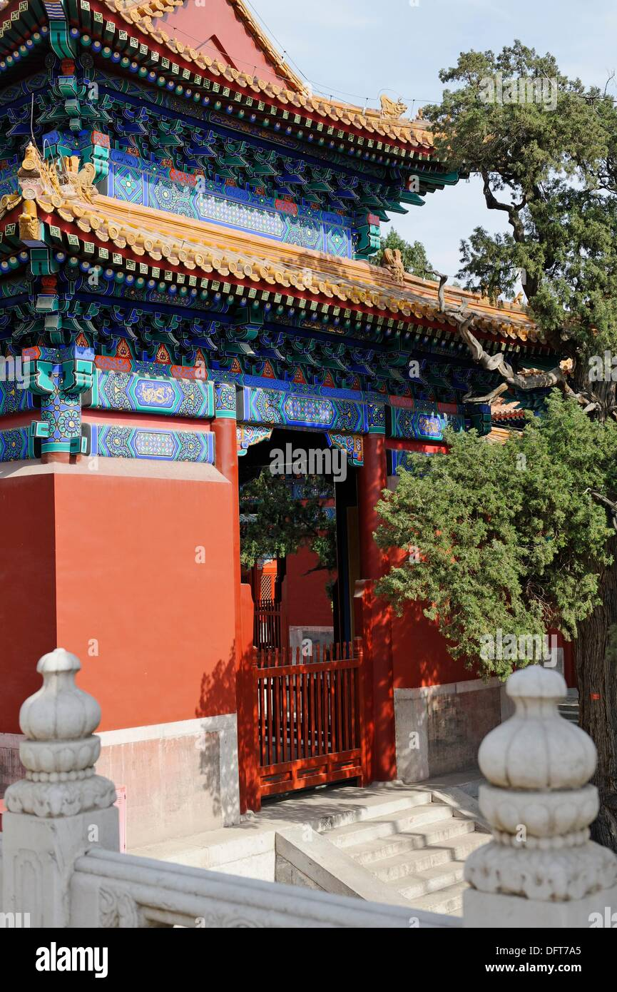 Temple of Conficius built in 1302, Beijing, China - Stock Image