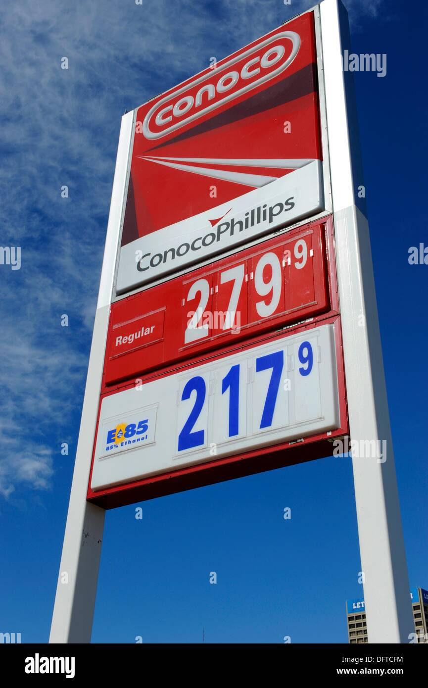 E 85 Ethanol gasoline sign - Stock Image