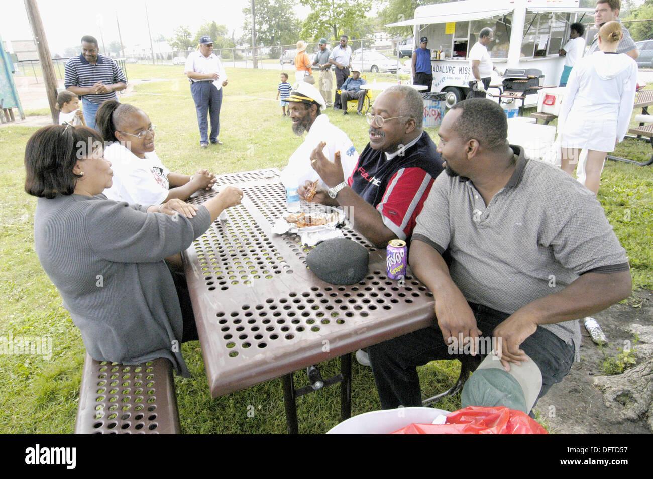 Barbecue at NAACP field day. Port Huron. Michigan, USA - Stock Image