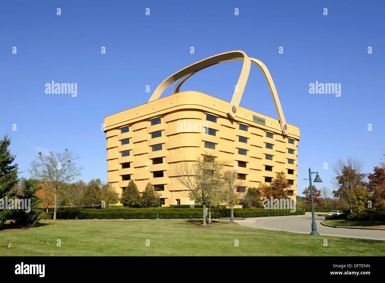 Superieur Longaberger´s Home Office Zanesville Ohio U S Seven Story Building Basket    Stock Image
