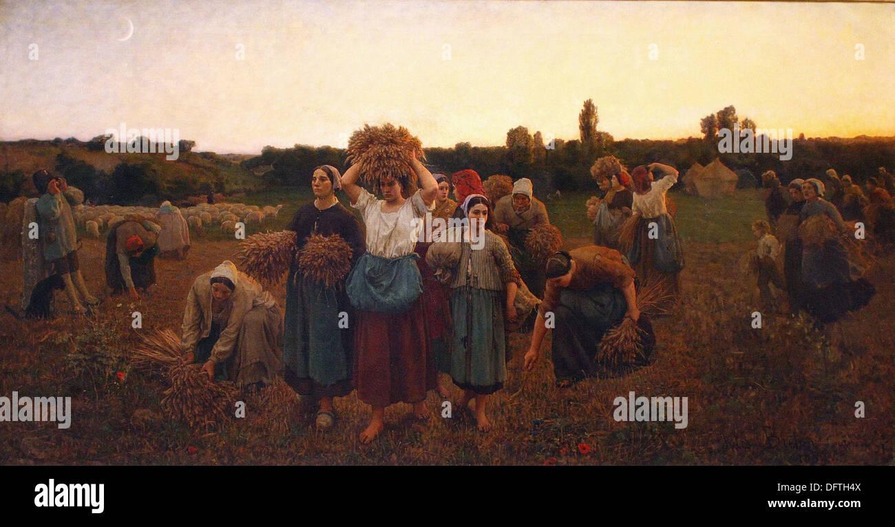 Jules Breton - The Gleaners recall -1859 - Orsay Museum - Paris - Stock Image