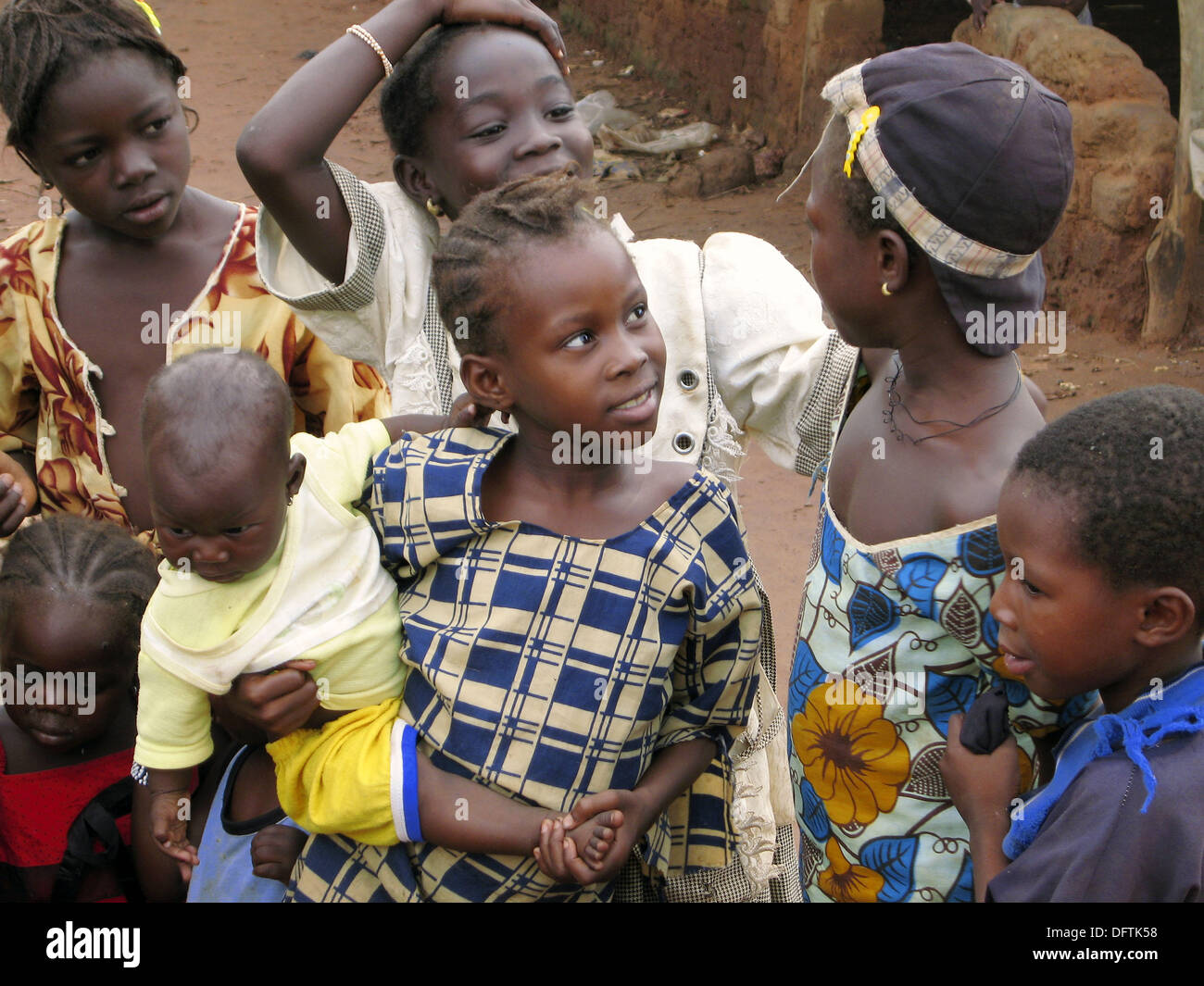 Senoufo children. Sikasso region, Mali - Stock Image