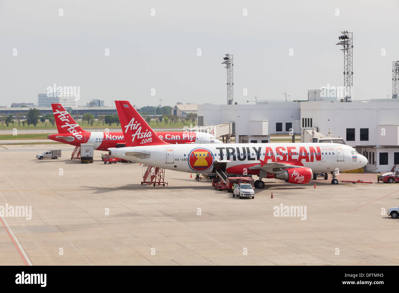 Air Asia airplanes, Thailand - Stock Image