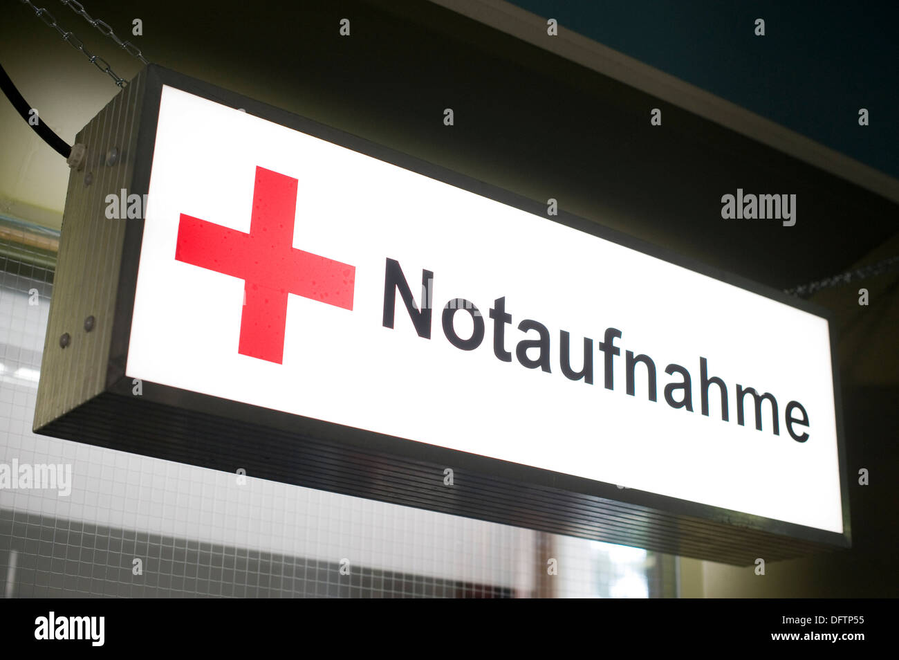 Sign Notaufnahme German For Emergency Room At A Hospital