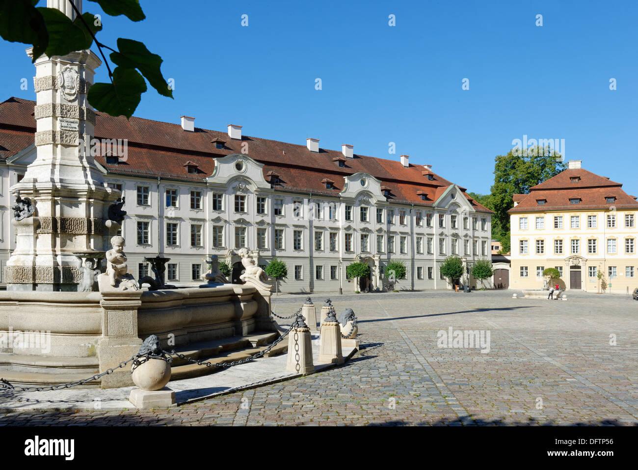Kavaliershoefe courtyards and the former home of the Vicar General, Residenzplatz square, Altmühltal, Eichstätt, Upper Bavaria - Stock Image