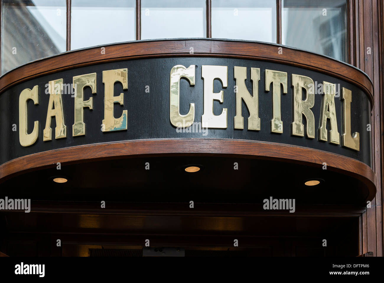 Cafe Central, entrance, Innere Stadt, Vienna, Vienna State, Austria - Stock Image
