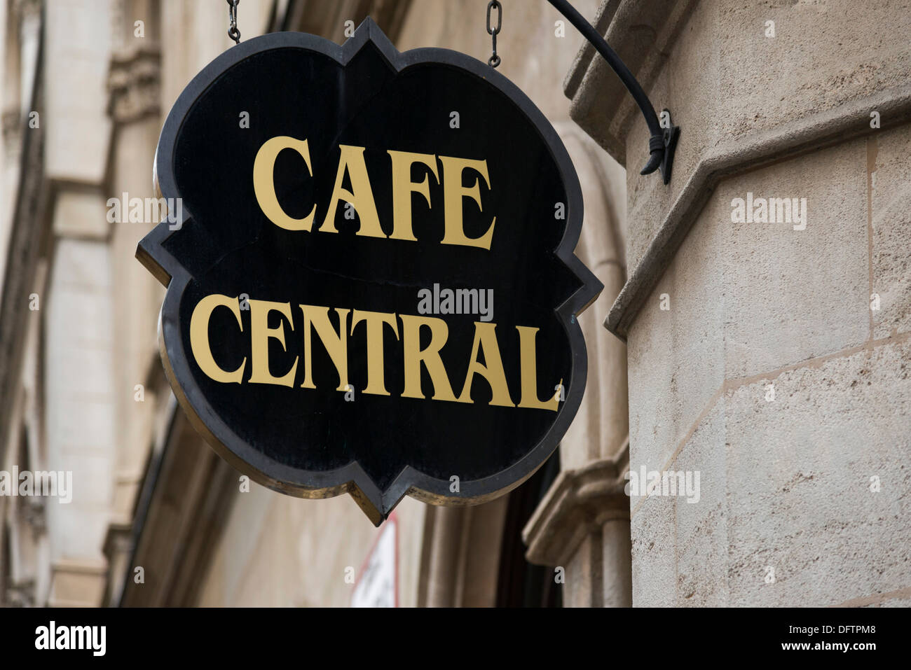 Cafe Central, sign, Innere Stadt, Vienna, Vienna State, Austria - Stock Image
