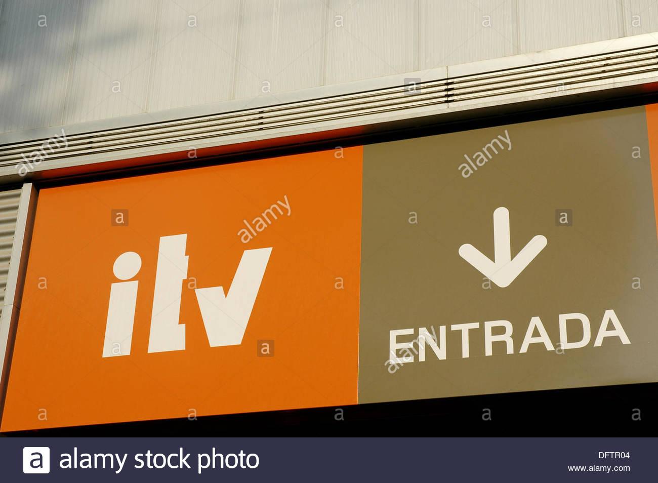 Itv Spanish Transport Test Certificate Entrance Stock Photo