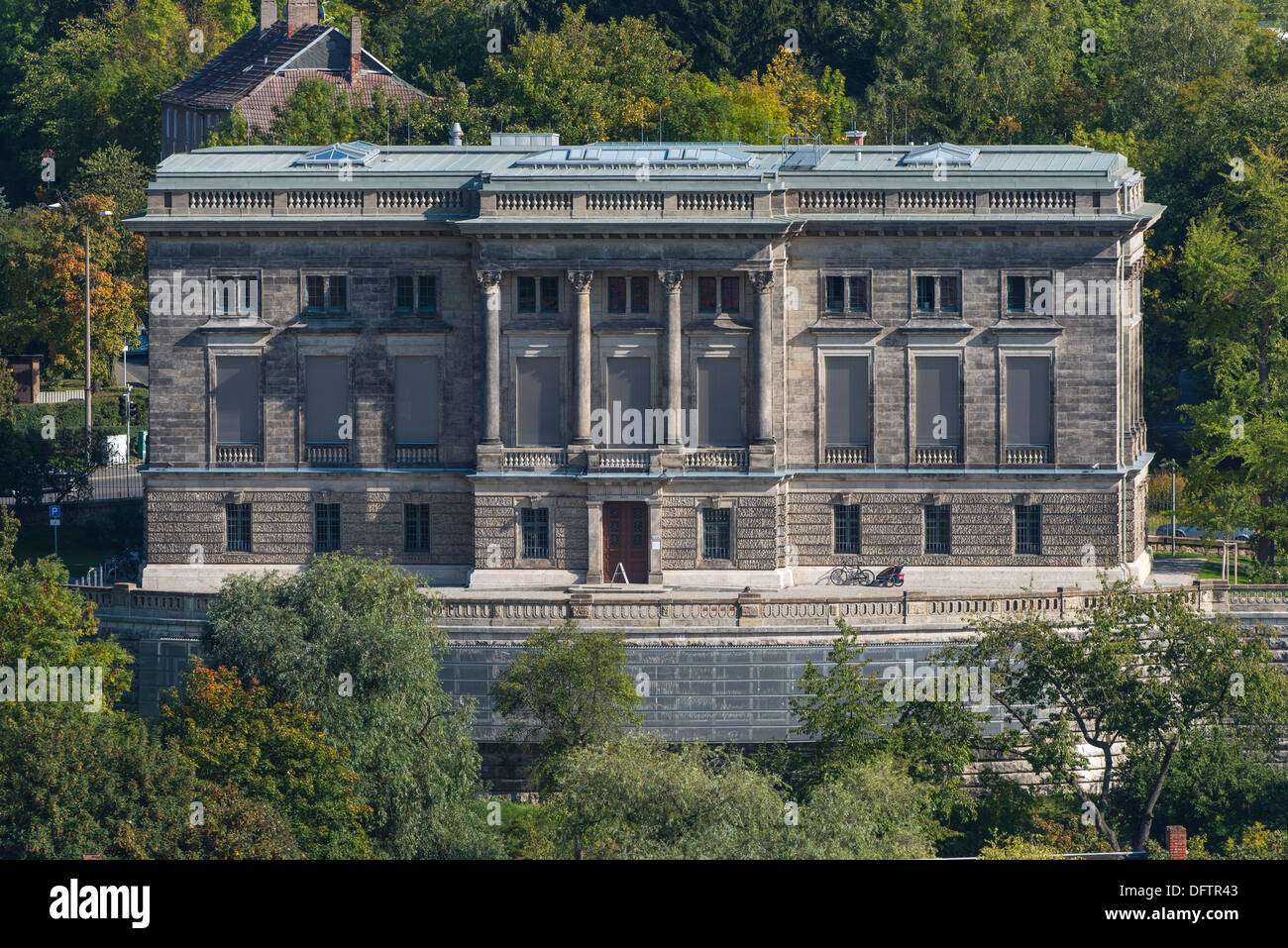 The Goethe and Schiller Archives, 1896, first German Literature Archive, west side with a new archive in the basement - Stock Image