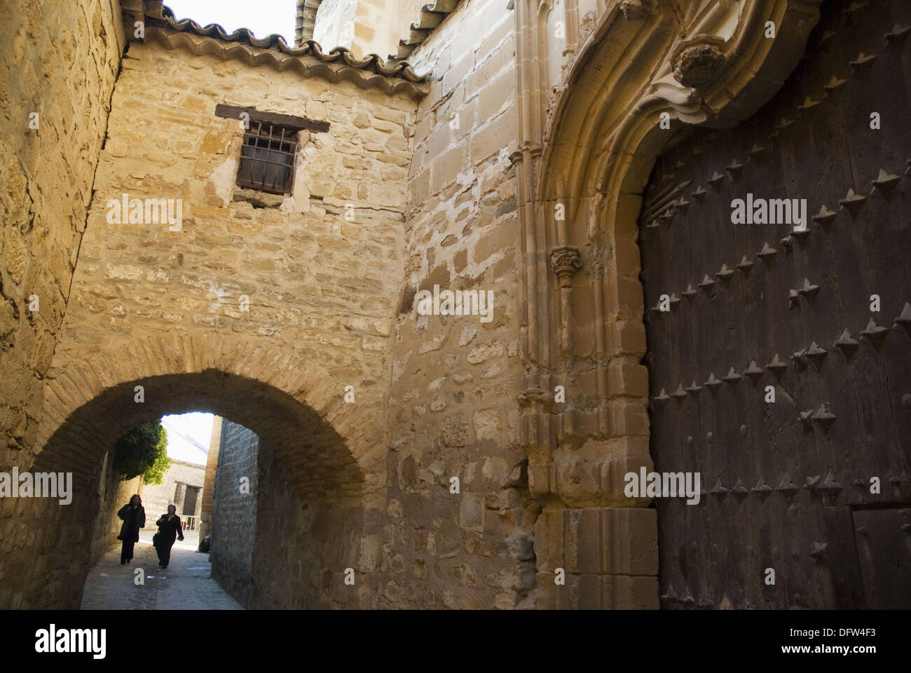 Lateral façade of cathedral, Baeza. Jaen province, Andalusia, Spain - Stock Image