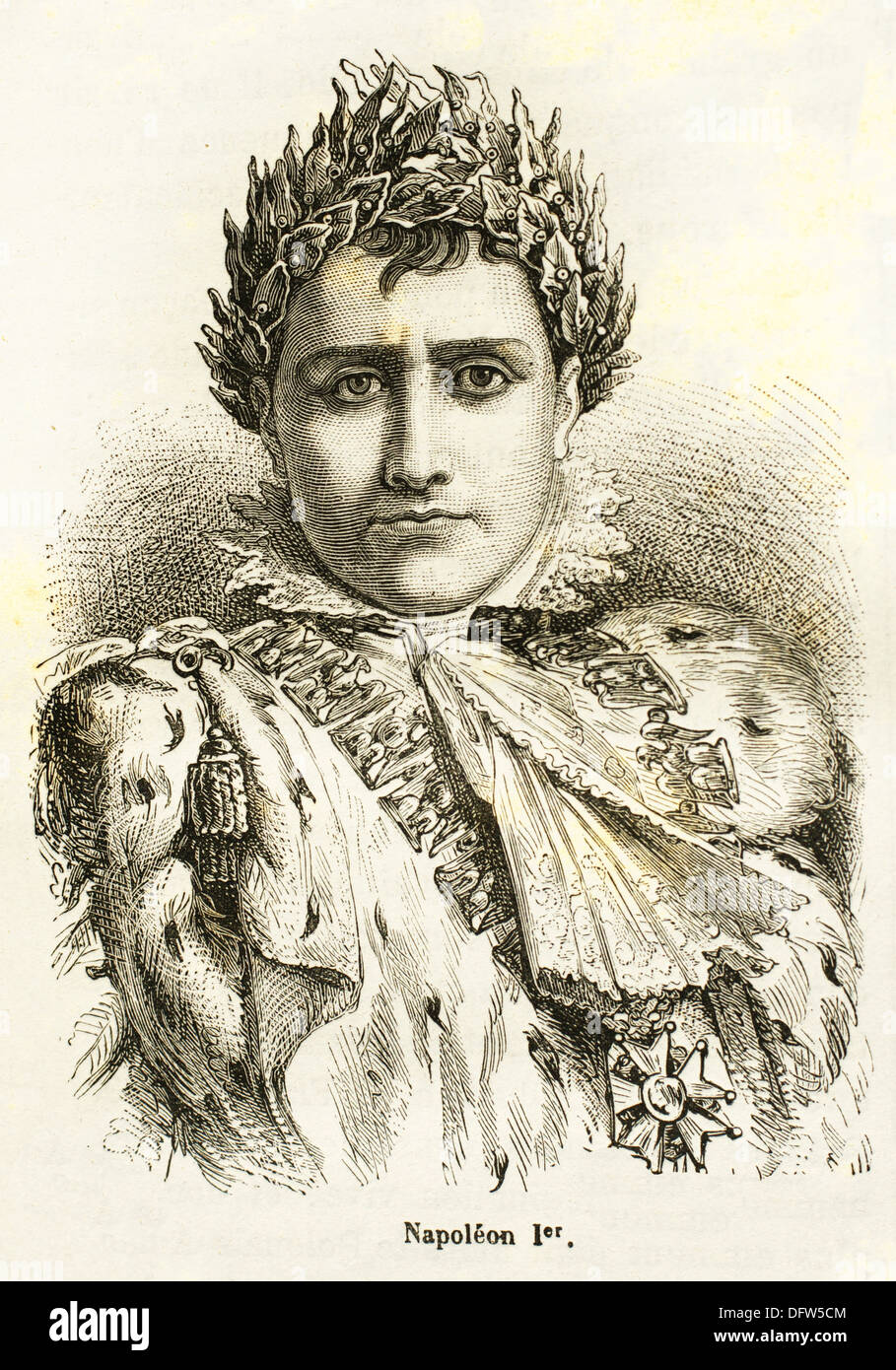France, History, 19th Century. Napoleon Bonaparte Italian: Napoleone di Buonaparte, 15 August 1769 - 5 May 1821 Stock Photo