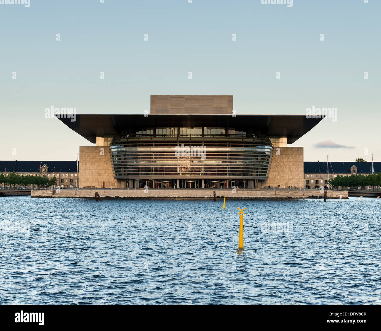 Copenhagen Opera House (Operaen), Copenhagen, Denmark. Architect: Henning Larsen, 2004. Stock Photo