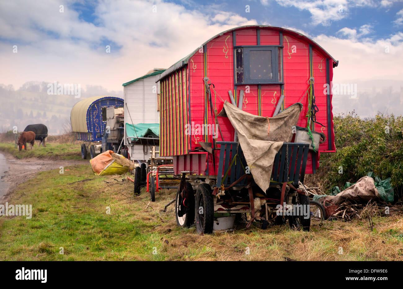 Gypsy Vardo - Stock Image