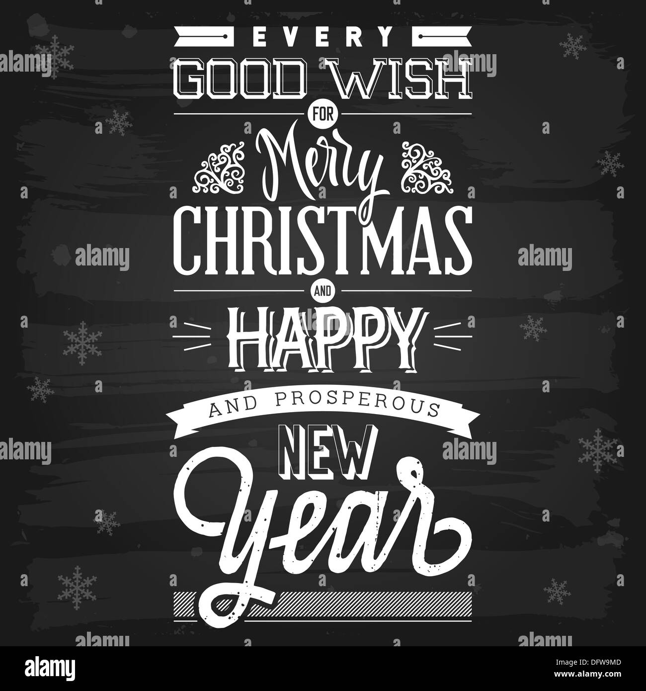 New Year Greetings Black And White Stock Photos Images Alamy