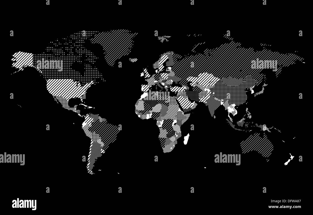World map with textured countries on black background stock photo world map with textured countries on black background gumiabroncs Image collections