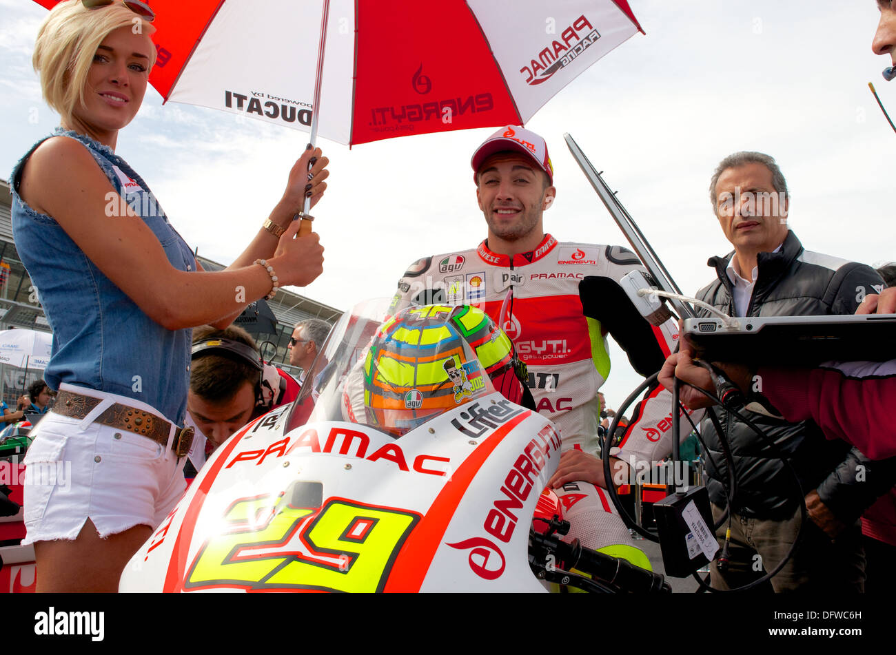 Andrea Iannone on his Ducati MotoGP bike with Energy T.I ...