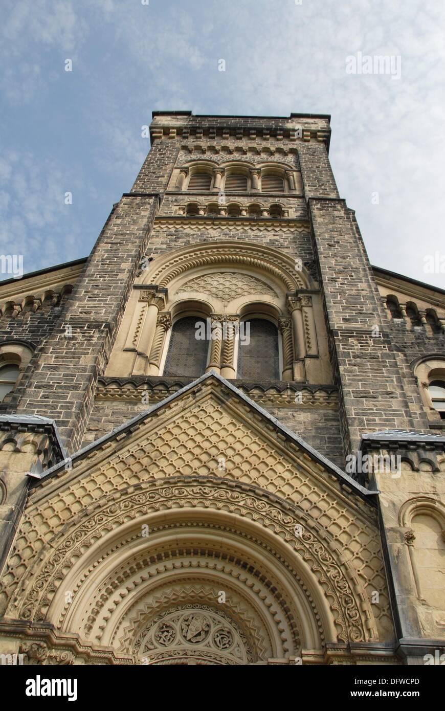 Tower of  the University College at the University of Toronto. Toronto, Ontario, Canada. - Stock Image