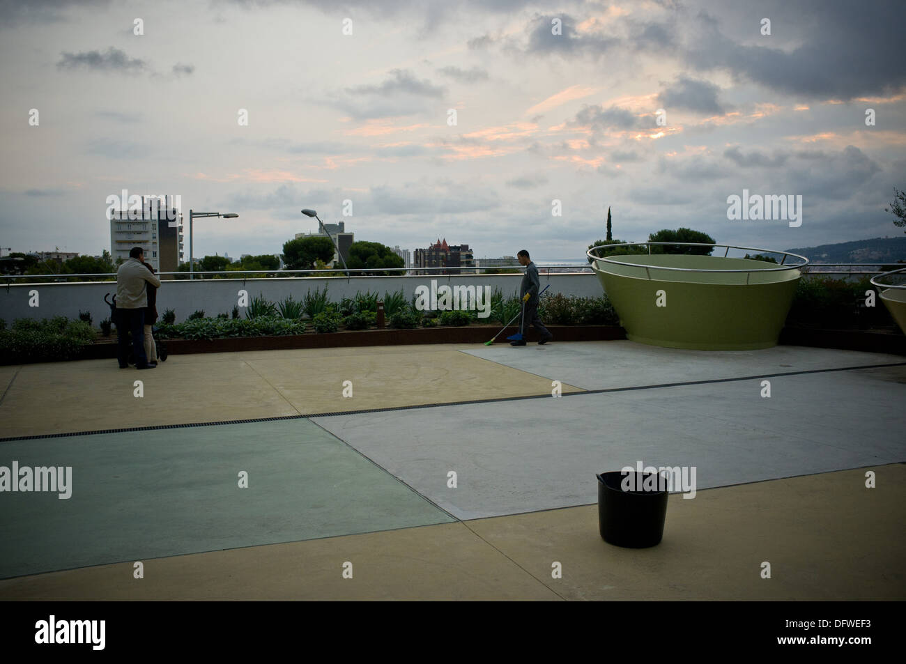 Sant Joan de Deu Children's Hospital terrace in Barcelona, Spain. - Stock Image