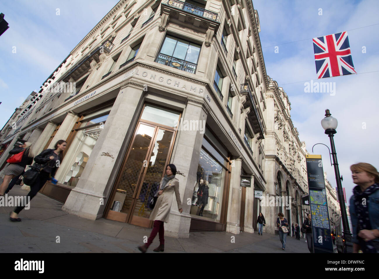 Longchamps fashion outlet Regent Street - Stock Image
