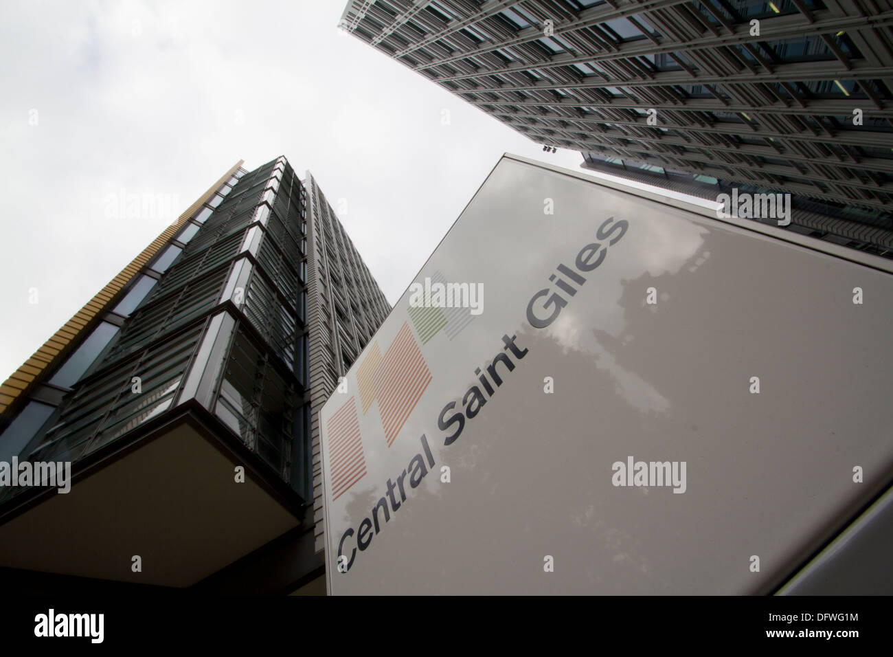 Central Saint Giles college London - Stock Image