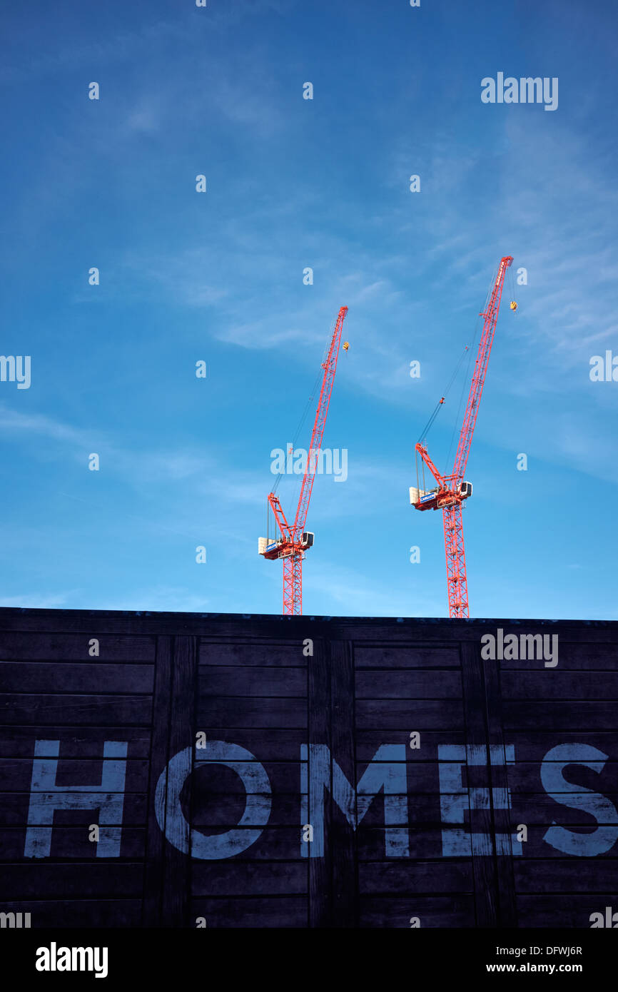 Construction site - New Builds - New Homes. - Stock Image