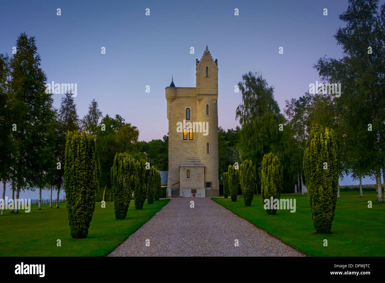 Ulster Tower, Irish First World War One memorial to the men of the 36th Ulster Division at Thiepval, Battle of the - Stock Image