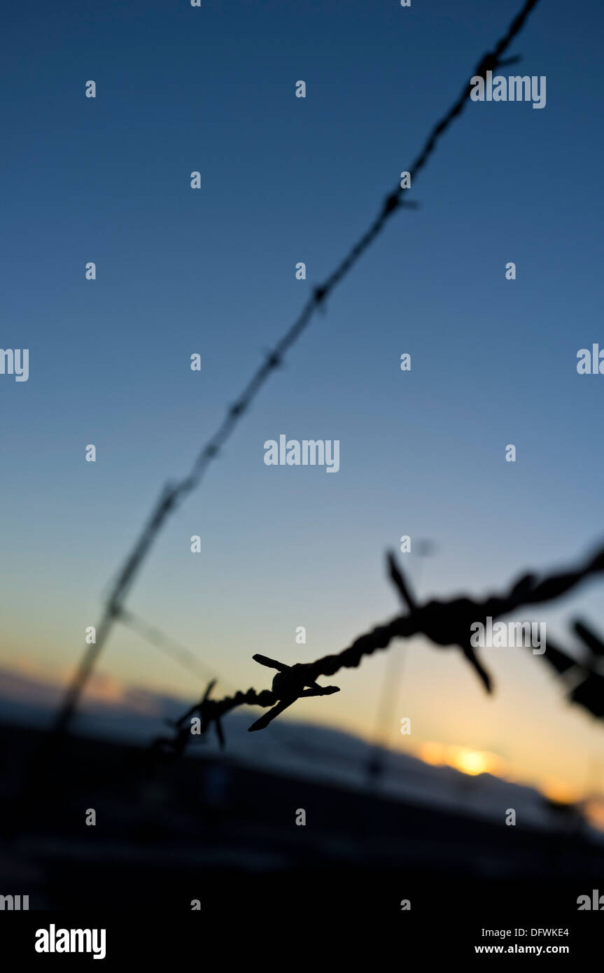 Strands Of Barbed Wire Stock Photos & Strands Of Barbed Wire Stock ...