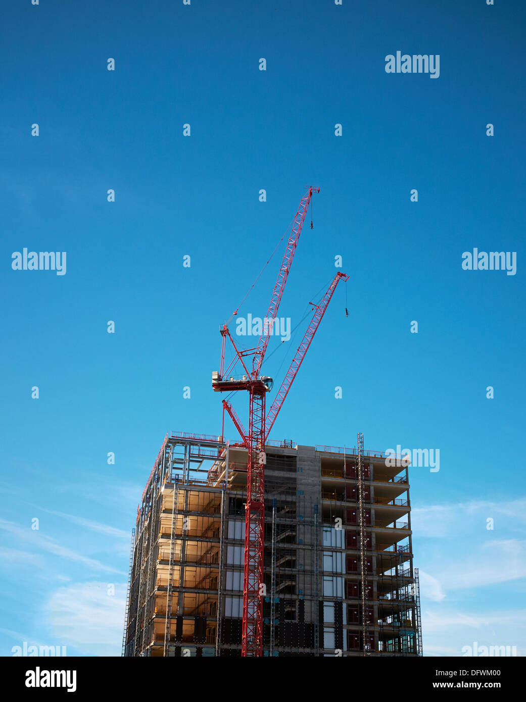 Construction site - New Builds - New Homes - New Offices. - Stock Image