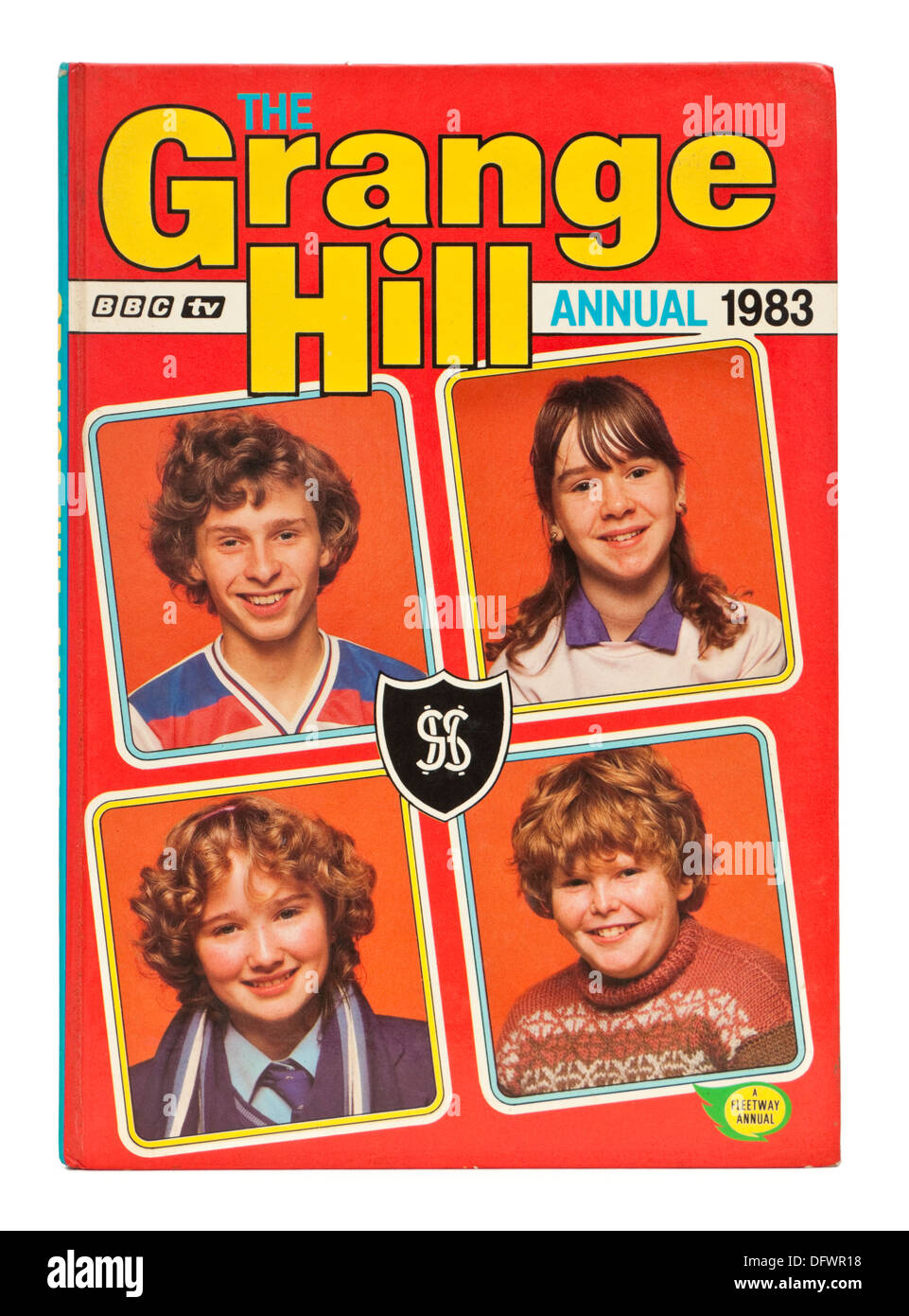 """Vintage 1983 """"Grange Hill"""" annual, featuring a young Susan Tully (aka Michelle Fowler in the BBC soap opera EastEnders) Stock Photo"""