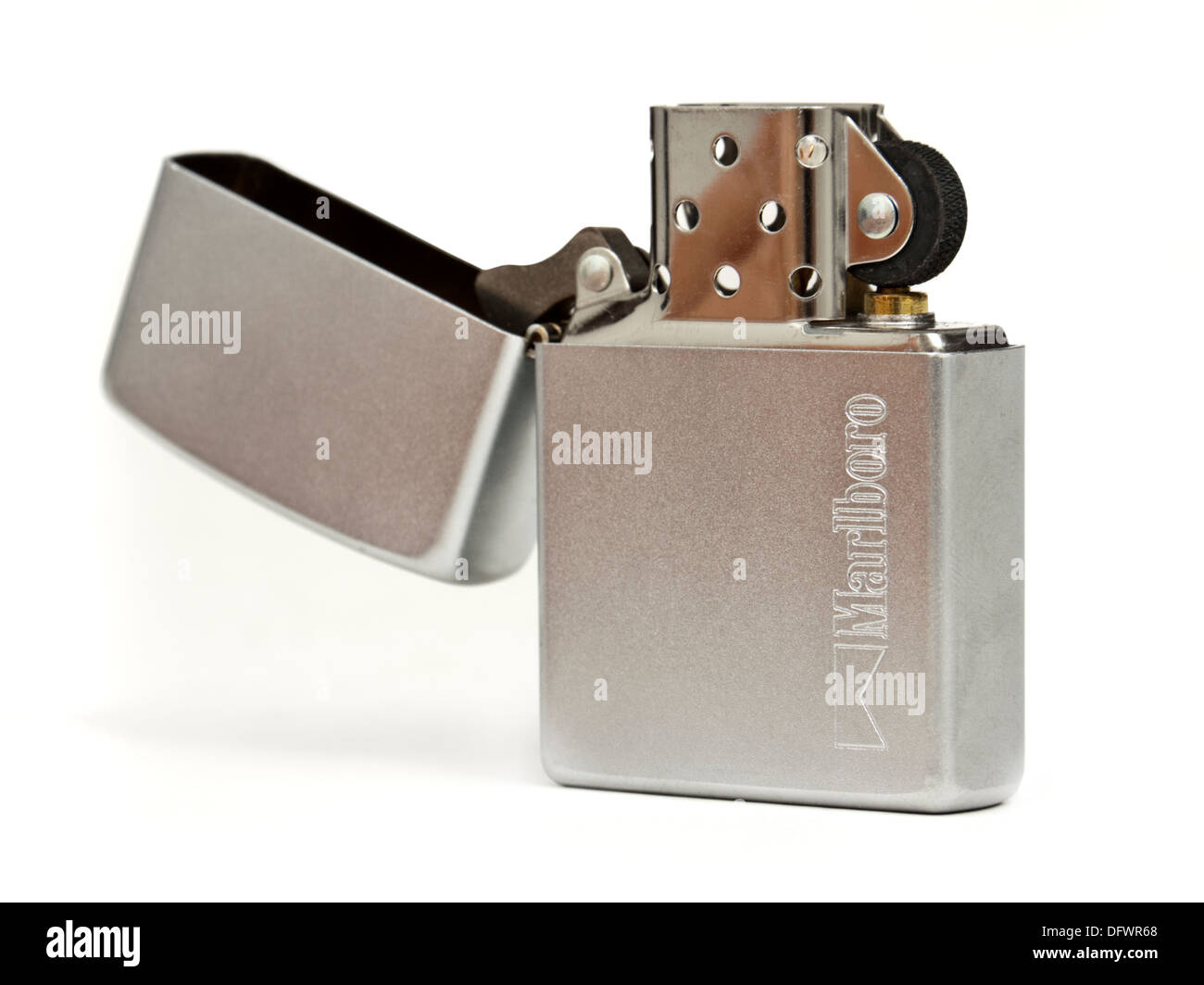 Marlboro branded cigarette lighter by Zippo - Stock Image
